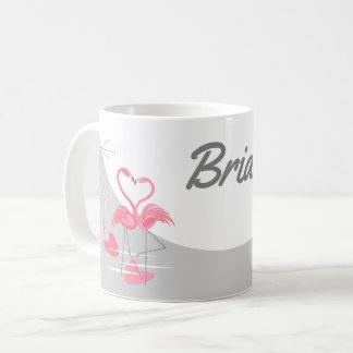 Flamingo Love Large Moon Bride mug