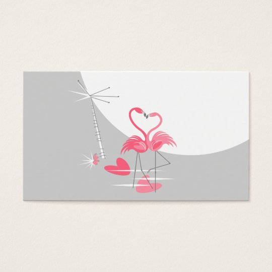 Flamingo Love Large Moon business card