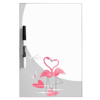Flamingo Love Large Moon dry erase board