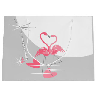 Flamingo Love Large Moon gift bag large