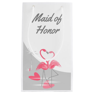 Flamingo Love Large Moon Maid of Honor small Small Gift Bag