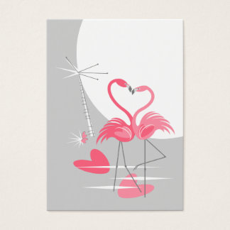 Flamingo love Large Moon mighty vertical Business Card
