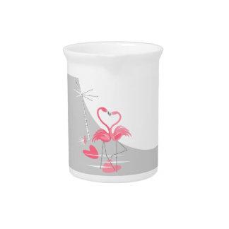 Flamingo Love Large Moon pitcher