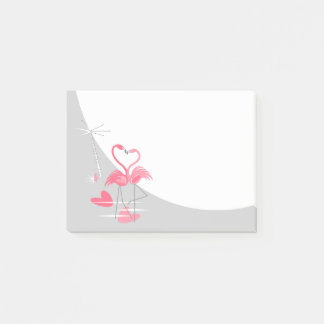 Flamingo Love Large Moon Post-It notes