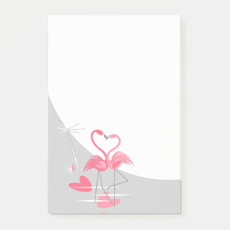 Flamingo Love Large Moon post-it notes vertical