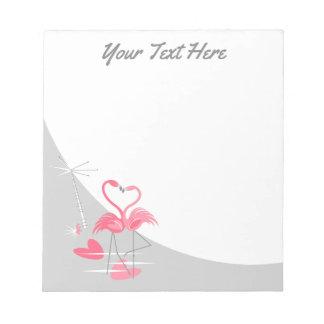 Flamingo Love Large Moon Text notepad