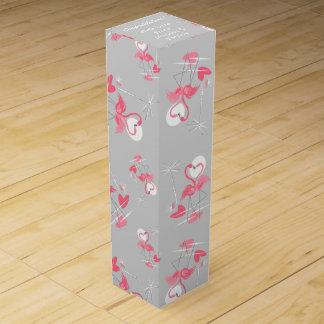 Flamingo Love Multi text wine box