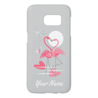 Flamingo Love Name Samsung Galaxy S7 case