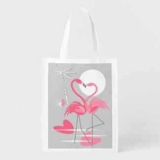 Flamingo Love reusable bag