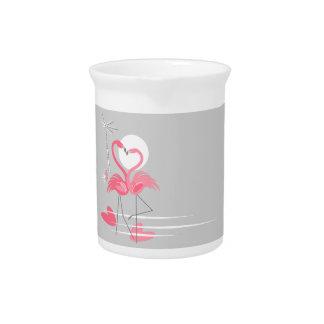 Flamingo Love Side pitcher