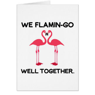 Flamingo Love Story Card