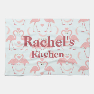Flamingo Love Tea Towel