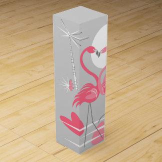 Flamingo Love text wine box