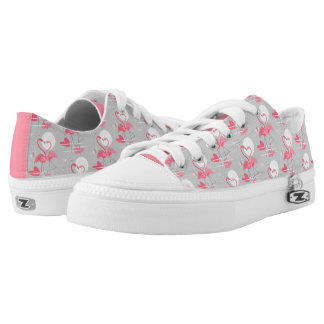 Flamingo Love Tiled low top shoes pink