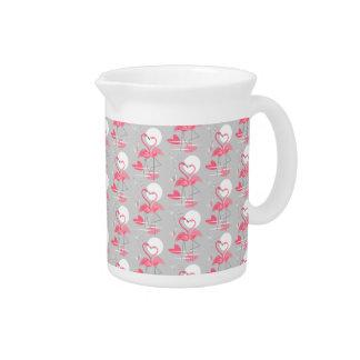 Flamingo Love Tiled pitcher