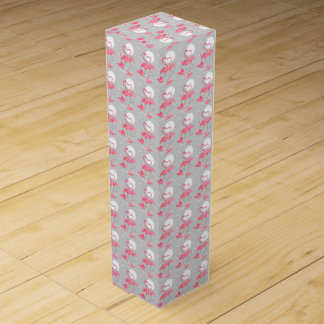Flamingo Love wine box tiled