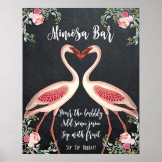 Flamingo Mimosa Bar Wedding Sign chalkboard