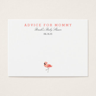 Flamingo Mommy Advice Cards