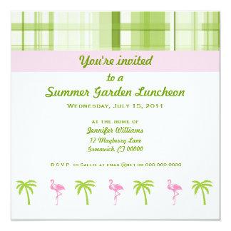 Flamingo & Palm Garden Party Invitation