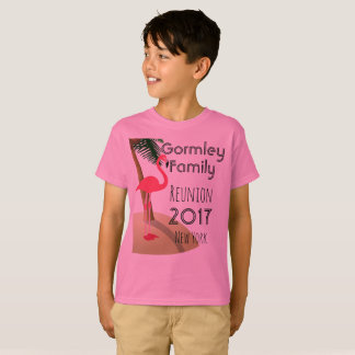 Flamingo Palm Tree Tropical Family Reunion Boys T-Shirt