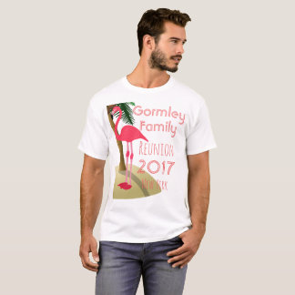 Flamingo Palm Tree Tropical Family Reunion Shirt W