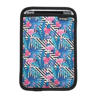 Flamingo & Palms on Geometric Pattern iPad Mini Sleeve
