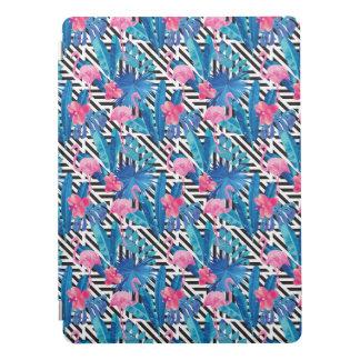 Flamingo & Palms on Geometric Pattern iPad Pro Cover
