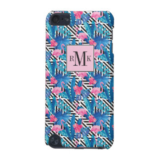 Flamingo & Palms on Geometric Pattern iPod Touch (5th Generation) Cover
