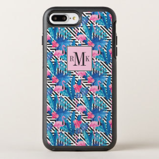 Flamingo & Palms on Geometric Pattern OtterBox Symmetry iPhone 8 Plus/7 Plus Case