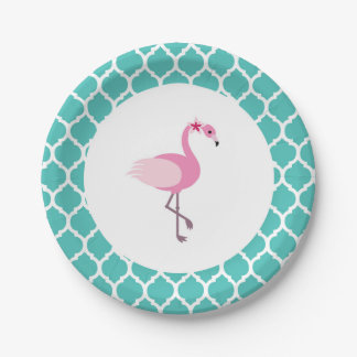 Flamingo Paper Plate 7 Inch Paper Plate