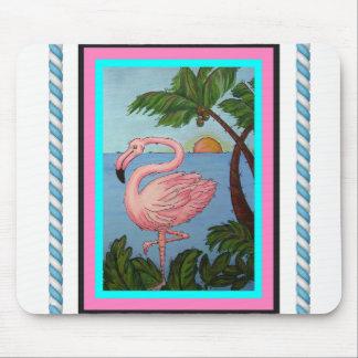 Flamingo Paradise Mouse Pad