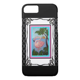 Flamingo Paradise Two Phone Case