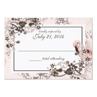 Flamingo Paradise Wedding Response 9 Cm X 13 Cm Invitation Card