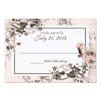 Flamingo Paradise Wedding Response Card