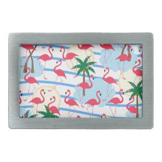 Flamingo pattern belt buckle
