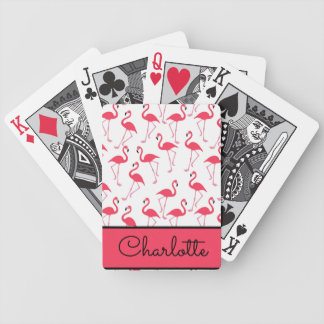 Flamingo Pattern Bicycle Playing Cards