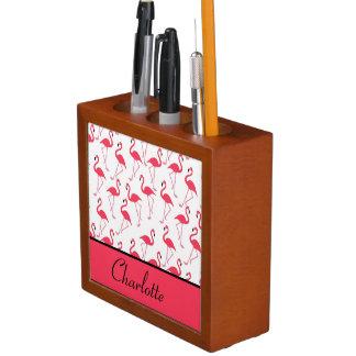 Flamingo Pattern Desk Organiser