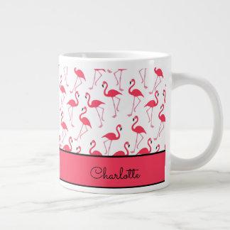 Flamingo Pattern Large Coffee Mug
