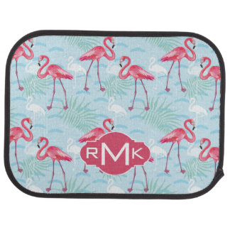 Flamingo Pattern | Monogram Car Mat