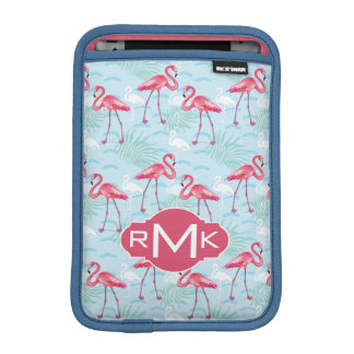 Flamingo Pattern | Monogram iPad Mini Sleeve