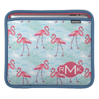 Flamingo Pattern | Monogram Sleeve For iPads