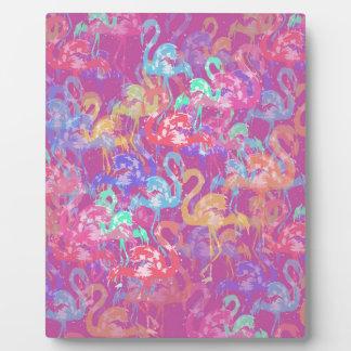 Flamingo pattern plaque