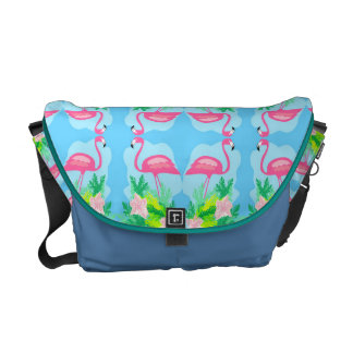 flamingo pattern Rickshaw Messenger Bag