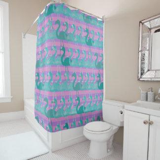 Flamingo Pattern Shower Curtain (TealPurp)