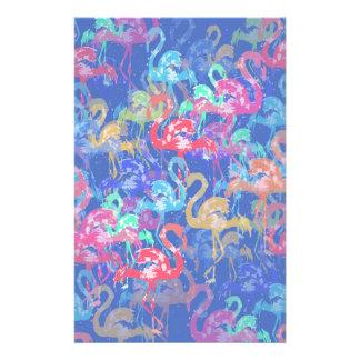 Flamingo pattern stationery