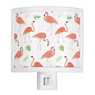 Flamingo Pattern Watercolor Night Light
