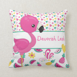 Flamingo pillow - personalised with NAME