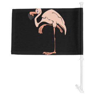 Flamingo Pink Car Flag