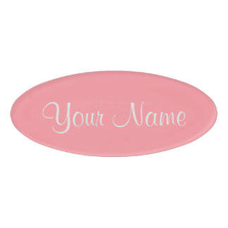 Flamingo Pink Name Tag