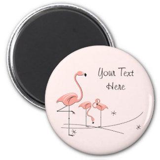 Flamingo Pink Text Trio 4 magnet